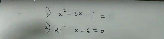 search-thumbnail-) x^{2}- 3x -1 = 0