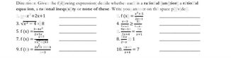 search-thumbnail-Di\piccions: Given the following expression, decide whether each is a rational function, a rational