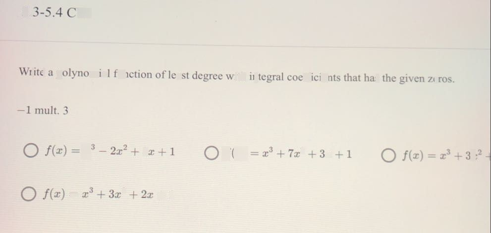 write a polynomial function o  see how to solve it at