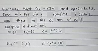 search-thumbnail- Suppose that f(x)=\times2+3 and g(x)=3x+2