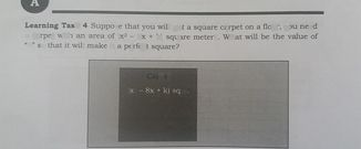 search-thumbnail-Learning Task 4 Suppose that you will put a square carpet on a floor, you need