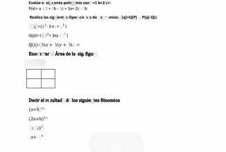 search-thumbnail-Realiza las siguientes Operaciones de polinomios p(9)+Q(P) y P(q)-a(z)