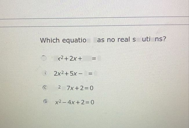search-thumbnail-Which equation has no real solutions?