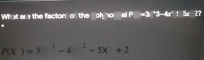 search-thumbnail-What are the factors of the polynomial 53=x