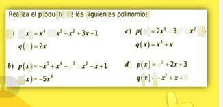 search-thumbnail-Realiza el producto de los siguientes p0lin0mios: