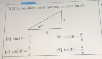 search-thumbnail-7) What equation would you use to solve for x? 8